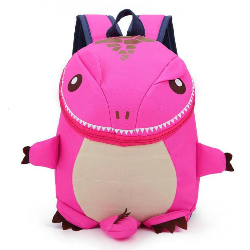 2018 Hot Sale Children Little dinosaur Baby Child Backpack Cartoon Cute Boys and Girls Kindergarten Schoolbag Lightweight Bag