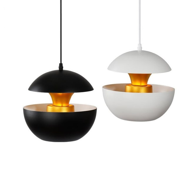 Italian Modern Aluminium E27 Black/white+gold Pendant Lights Lamps Dining  Room Kitchen Light