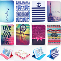 Fashion Rose Owl Pattern Wallet Flip PU Leather Cover Case For Samsung Galaxy Tab 2 7