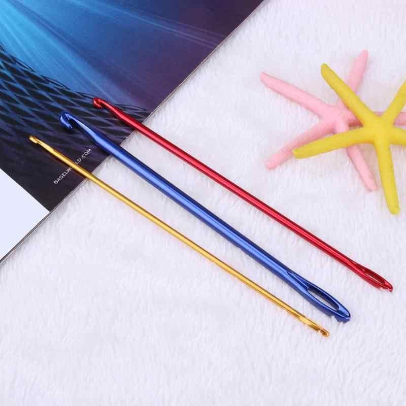 3p3pcs/набор спиц для вязания крючком Крючки красочные оксид алюминия ручка с отверстием глаз для вязания DIY Ремесло ткацкий станок инструмент