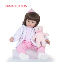 NPKCOLLECTION Silicone Reborn Baby Doll kids Playmate Gift For Girls 23 Inch Baby Alive Soft Toys For Bebe Reborn Brinquedo