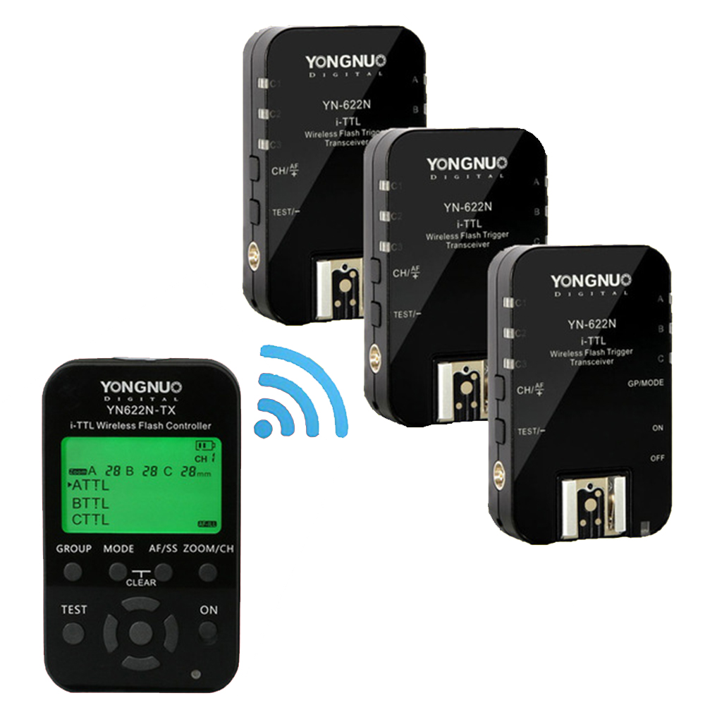 YONGNUO YN 622C KIT E TTL Wireless Flash Trigger Receivers Yongnuo YN622C + YN622C TX for Canon Yongnuo YN685 YN600EX RT II