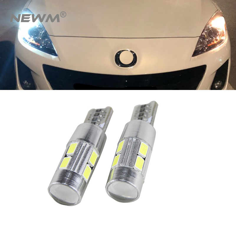 2x Canbus Error Free Car Wedge Light W5W T10 <font><b>LED</b></font> Auto Lamp Bulb For <font><b>Mazda</b></font> 323 626 cx-5 3 6 8 Atenza <font><b>cx7</b></font> cx-7 mx5 cx3 rx8 cx5 image