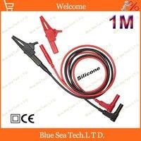 1 par 1 M multímetro cabo de teste de extensão da pena + 4mm jack test clip 13 AWG 2.5 cabo de silicone sq Frete grátis|cable stitches|cable electrode|cable verizon -