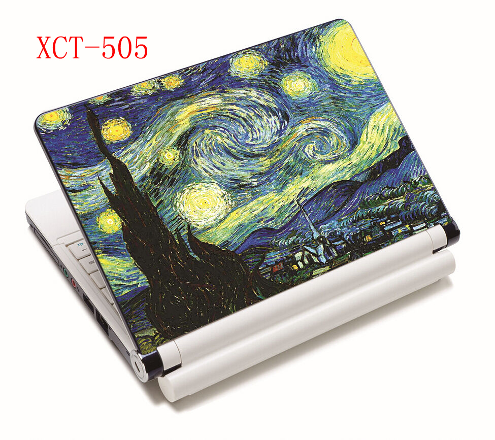Van Gogh <font><b>Laptop</b></font> <font><b>skin</b></font> notebook computer <font><b>skins</b></font> sticker for 10 12 13 15 <font><b>15.6</b></font> inch for Mac pro/ acer/<font><b>asus</b></font>/xiaomi image