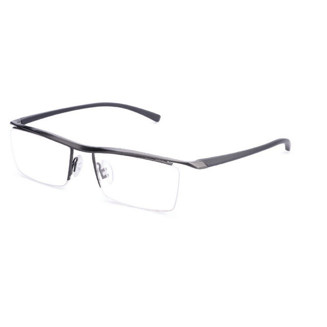 47682d08ba98 MINCL  Brand Pure Titanium Eye Glasses Super Quality Light Half Frame  Glasses Eyeglasses Men Semi Frame Eyewear Male FML