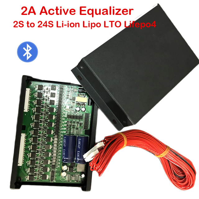2A Equalizzatore Attivo del Display Bluetooth APP 2S ~ 24S BMS Li Ion Lipo LTO Lifepo4 Al Litio Titanato Batteria JK Balancer 8S 16S