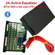 2a equalizador ativo com tela bluetooth, equalizador ativo com aplicativo 2s ~ 24s, bms, li ion, lipo lto lifepo4, bateria de lítio titanate jk balancer 8s 16s