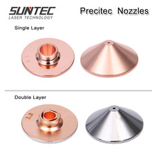 Suntec Precitec/WSX Single Layer/Double Layer nozzles 4.5 5.0mm for Precitec/Han's Laser/WSX cutting head Laser Cutting Machine цена