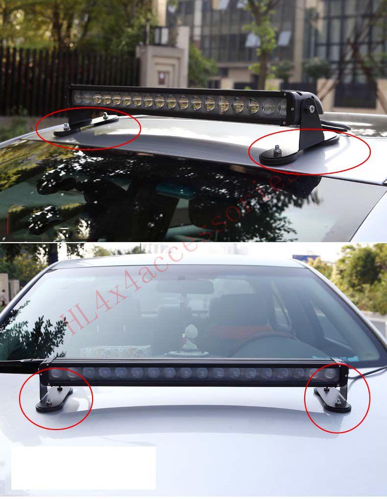 2pcs Car roof LED light Magnetic bracket Car engine hood LED bar ...