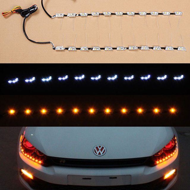 Free shipping flexible drl strip led daytime running light for car free shipping flexible drl strip led daytime running light for car headlight easy install and diy mozeypictures Image collections
