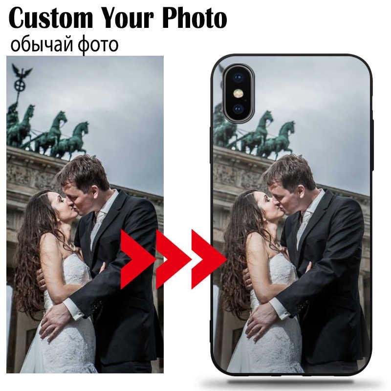Jurchen personalizado personalizado caso de telefone para iphone 6 7 8 plus x 11 pro xs max xr 2019 capa design personalizado foto nome