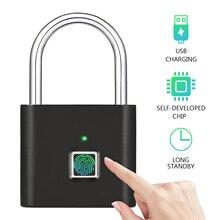 USB Перезаряжаемый умный безключевой электронный замок с отпечатком пальца домашний Противоугонный замок безопасности дверь Багаж Замок для чемодана