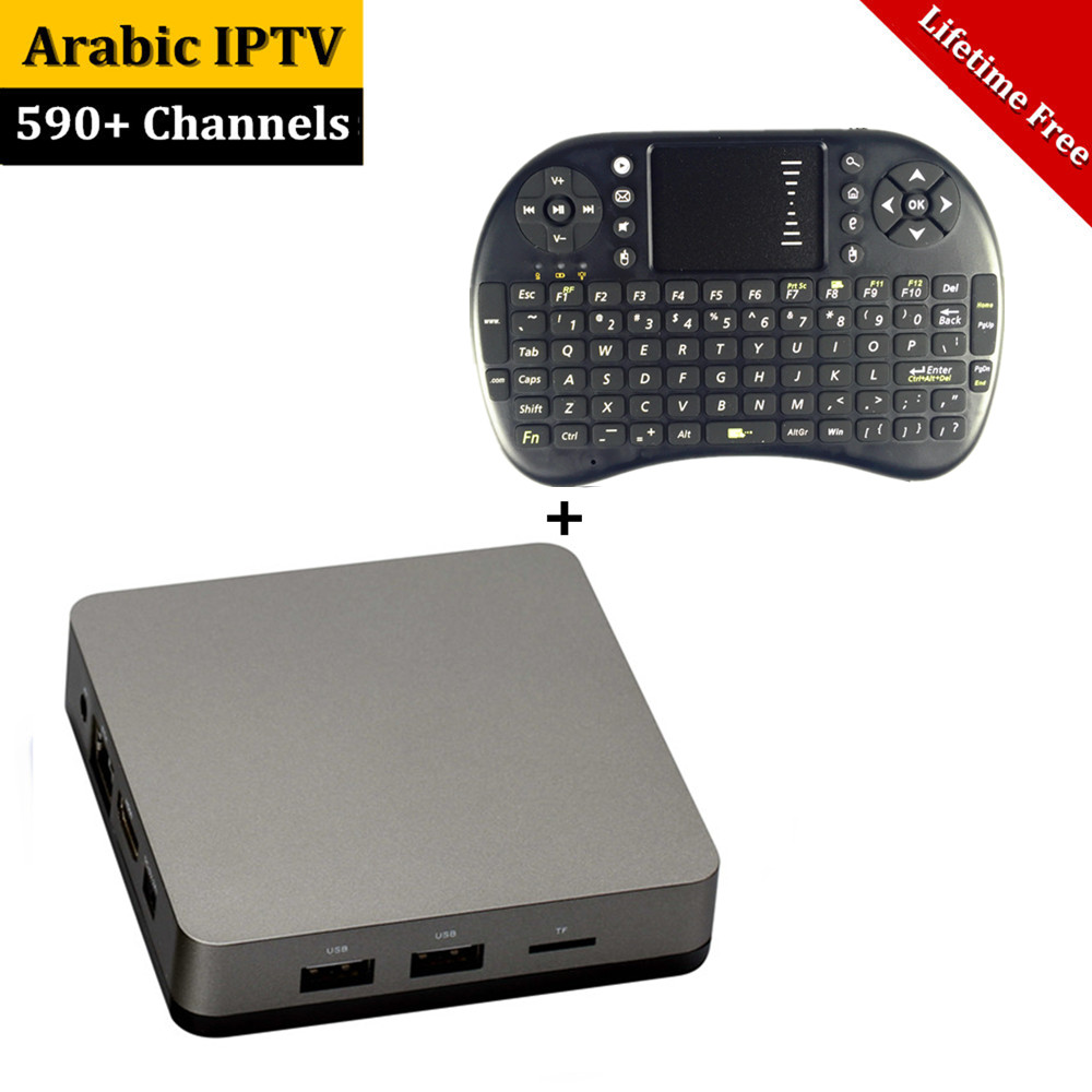 Lifetime Free Arabic IPTV Box Support 590 Arabic Africa Turkey French Sports Kids Channels Most Stable