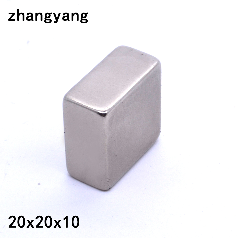 Factory Sell 1PCS 20 X 20 X 10mm N35 Super Strong Powerful Neodymium Magnets NdFeB Block Cuboid Rare Earth Fridge Magnet