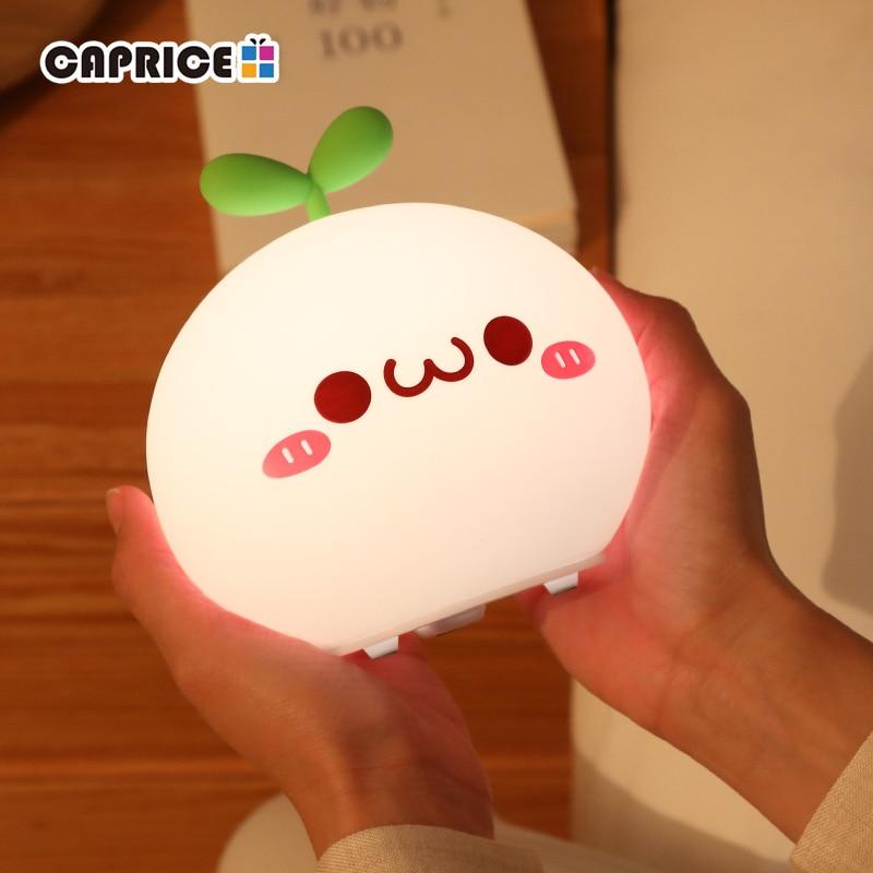 USB LED Night Light Lamp Soft Silicon Touch Sensor Cartoon 5V 1200 MAh  8 Hours Working Kids Cute Night Light BP-D-PPD-U