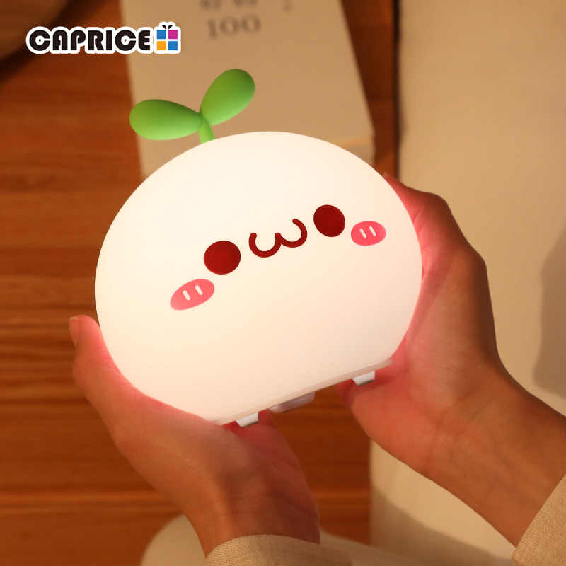 USB LED Night Light Lamp Soft Silicon Touch Sensor Cartoon 5V 1200 mAh  8 Hours Working Kids Cute Night Light BP-D-PPD-U