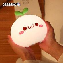 USB LED Nachtlicht Lampe Weichen Silicon Touch Sensor Cartoon 5V 1200 mAh 8 Stunden Arbeiten Kinder Nette Nacht licht BP D PPD U