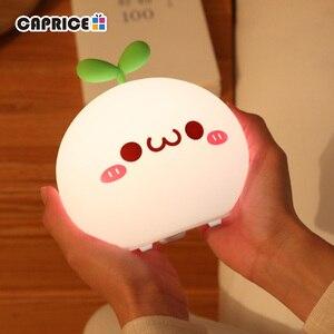 USB LED Night Light Lamp Soft Silicon Touch Sensor Cartoon 5V 1200 mAh 8 Hours Working Kids Cute Night Light BP-D-PPD-U(China)