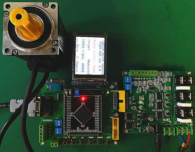 US $349 6 5% OFF|AC Servo Motor PMSM Vector Development Board STM32  (including PMSM Motor 36V, 2500 Wire Encoder-in Counters from Tools on