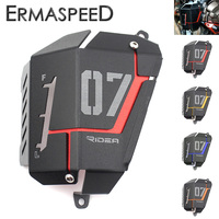 Motorcycle Radiator Side Protective Cover Grill Guard Blue Red Yellow Orange For Yamaha MT07 MT 07