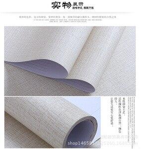 Image 5 - 5M x 60CM נוסף עבה פשתן מרקם טפט רגיל שיפוץ רהיטי מדבקת עצמי דבק טפט Roll לשינה דקור