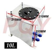 PQY RACING-Kraftstoff ausgleichsbehälter spiegelpolitur hohe qualität brennstoffzellen 10L ohne sensor PQY-TK13