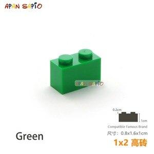 Image 3 - 25 sztuk/partia DIY bloki klocki grube 1X2 edukacyjne montaż budowlane zabawki dla dzieci rozmiar kompatybilny z lego