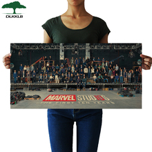 DLKKLB Marvel плакат Мстителей Vintage10 юбилей главный герой фильм гостиная спальня декоративная живопись наклейки на стену