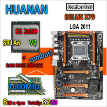 HUANAN golden Deluxe version X79 gaming motherboard LGA ATX combos E5 DDR3 Memory