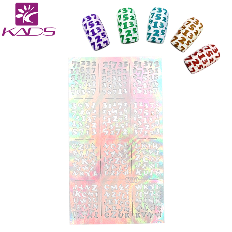 KADS New Fashion Creative English Letter Design Nail Transfer Decals ...