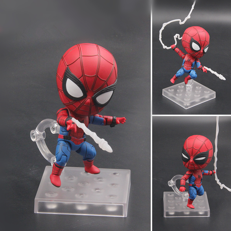 Nendoroid Anime Spiderman Homecoming Edition 781 The Amazing Spiderman PVC Action Figure Collectible Model Toys Doll 15cm