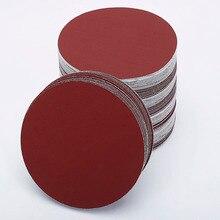 30 stks/set 7 inch 180mm Ronde schuurpapier Schijf Zand Lakens Grit 80/100/120/180/ 240/320 Klittenband Schuurschijf voor Sander Grutten