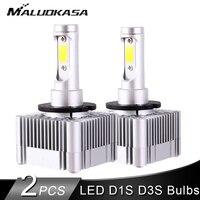 2PCS led D1S/D3S Fog Lights Bulb Kits Flip COB Chips 55W 10000LM Pure White 6000K Auto H7 Led Headlight Bulb Car Light