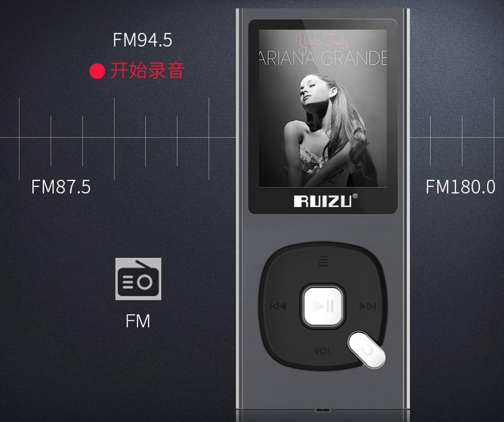 RUIZU X28 MP3 Player 8 GB Walkman