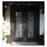Doppie porte d'ingresso porte in legno di lusso doppie porte d'ingresso porte a doppia entrata porte in acciaio ad arco