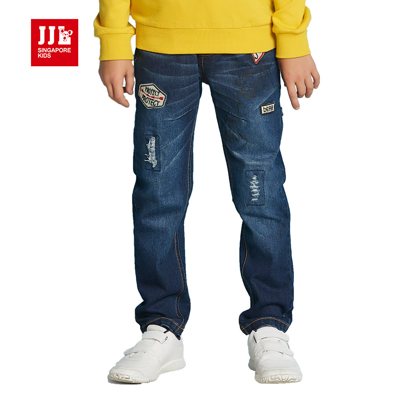 c96996beebd boys jeans winter boys pants kids pants children trousers full length 2016 children  clothing wholesale dark blue jeans kids-in Jeans from Mother   Kids