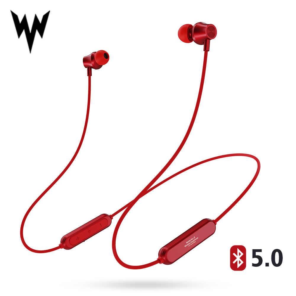 J2 bezprzewodowy zestaw słuchawkowy Bluetooth 5.0 słuchawki do Xiaomi iPhone wodoodporne słuchawki z pałąkiem na kark magnetyczny z Mic auriculares fone de ouvido