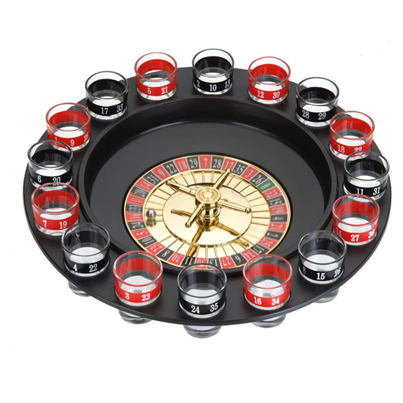 Novelty creative Drink Turntable Toys Russian roulette wheel 16 wine cups Bar KTV night party Entertainment happy game time