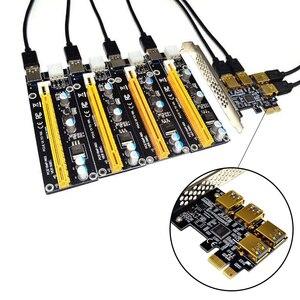 Новый 4 порта PCIe переходная плата PCI-E 1x к 4 USB 3,0 PCI-E Rabbet GPU Riser Extender Ethereum ETH/Monero XMR/Zcash ZEC 1