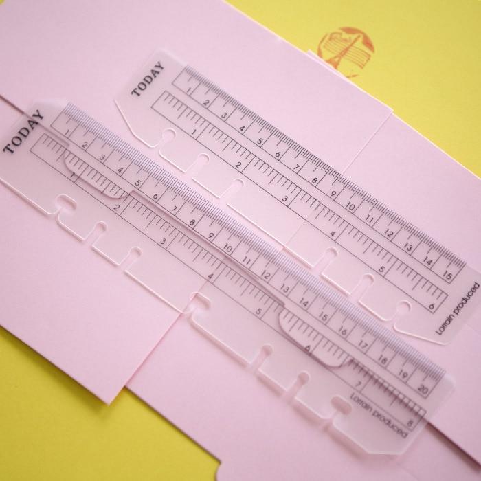 Vandaag Ruler A5 A6 A7 Frosted Planner Agenda Dokibook voor 6 Gaten Losbladige spiraal Notitieboek Organizer Geschikt voor Filofax