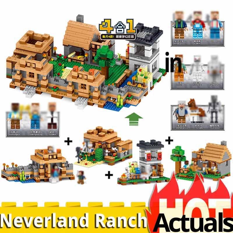 NIEUWE Qunlong minecraft QL0512 Dorp Boerderij Assemblage bouwstenen mijn wereld 21128 jongen verjaardag christmas gift speelgoed voor kinderen-in Blokken van Speelgoed & Hobbies op  Groep 1