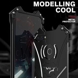 Image 5 - יוקרה באטמן Kickstand עמיד הלם מקרה עבור Huawei Honor 10 לייט אלומיניום פגוש עור שריון מתכת כריכה אחורית