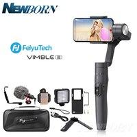 Feiyu vimble 2 vimble2 гидростабилизатор на шарнирном замке с 3 ручной шарнирный стабилизатор для камеры для iPhone X GoPro Hero SJCAM cam xiaomi PK Zhiyun Smooth Q