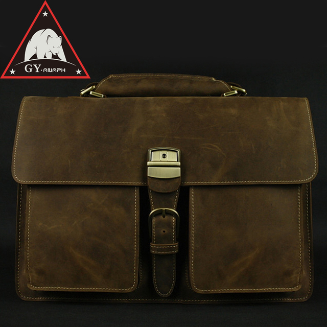 dbbdb389c7f5 US $135.0 55% OFF ANAPH Man Work Bag, Thick Cow Leather Office Executive  Briefcases For Men, Attache 16 Inch Laptop Bag, Lock Tote Bags Coffee-in ...