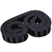15X30mm Strengthen Nylon Cable Drag Chain Transmission Towline Wire Carrier Engraving Machine Accessories 1 Meter Black 18mm x 50mm r38 plastic towline cable drag chain wire carrier 102cm length for engraving cutting machine transmission chains