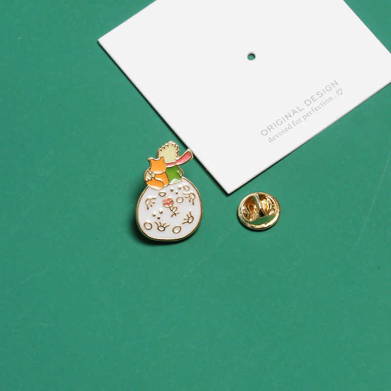 Лисенком из мультфильма принц Луны броши для Для женщин Фэнтези Сказка бижутерия эмаль значки на рюкзак аксессуары безделушки