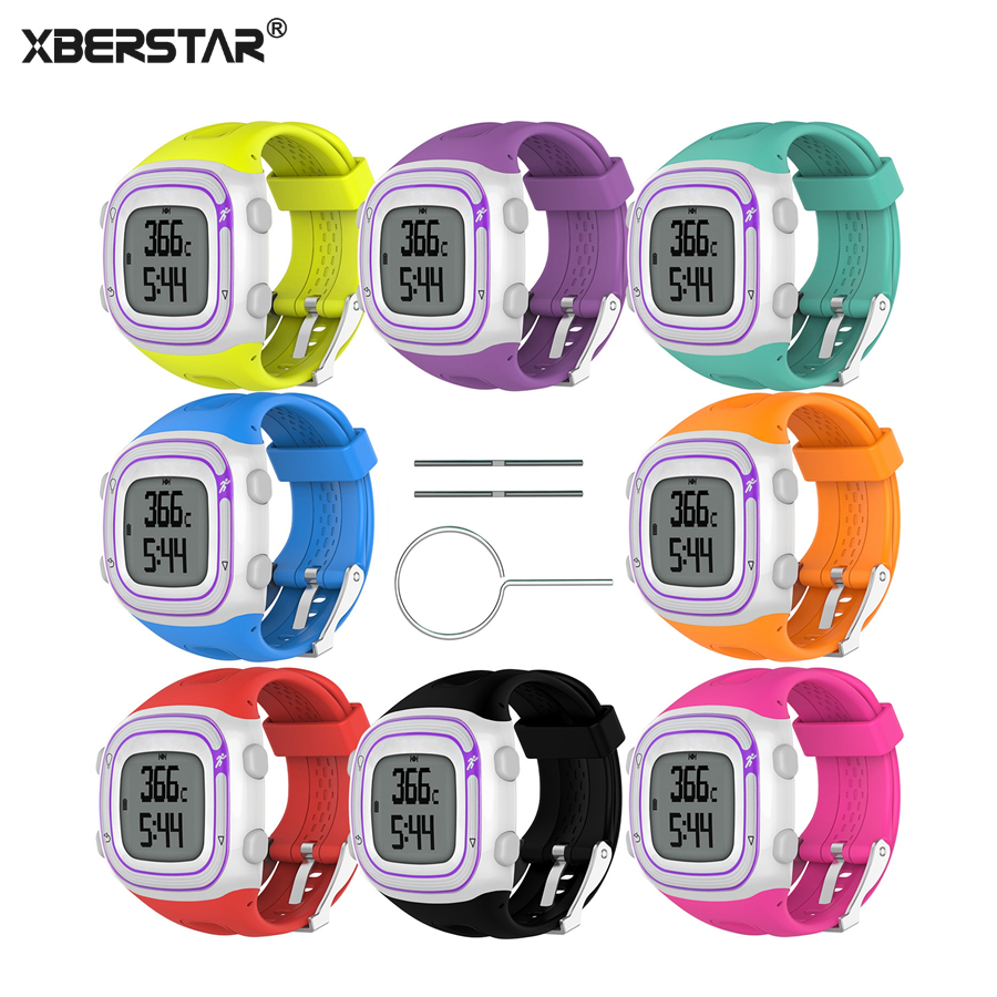 XBERSTAR Watchband wrist band Strap for Garmin Forerunner 10 15 Small / Large for Men Women GPS Running Watch Sport Silicone free shipping 100% original garmin forerunner 10 gps running watch sports fitness training walking exercise montre