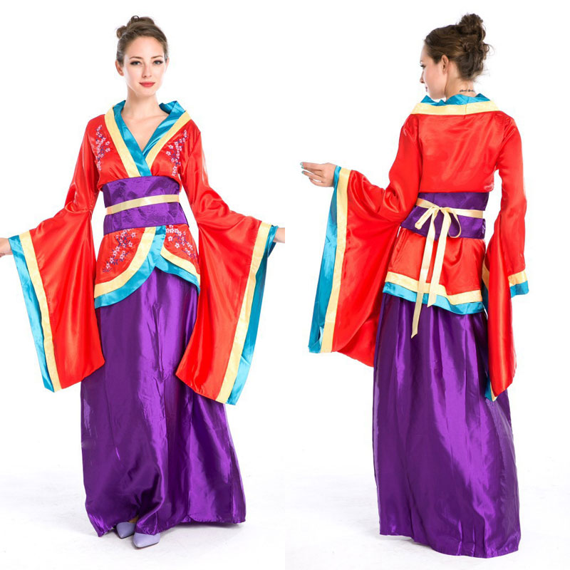 Halloween Costumes Japanese Geisha Costume Sakura Kimono Costumes Fancy Dress Cosplay Clothing for Women(China