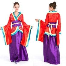 Halloween Costumes Japanese Geisha Costume Sakura Kimono Costumes Fancy Dress  Cosplay Clothing for Women(China 807eae822